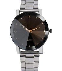 reloj hombre cuarzo acero inoxidable analogico fs plateado