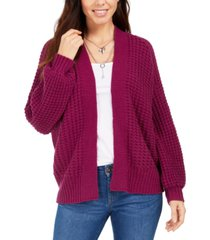style & co chunky cable-knit open-front cardigan, created for macy's