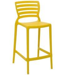 cadeira alta em polipropileno sofia 93,5x48x47cm amarela