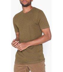 only & sons onspovel melange nf 4367 t-shirts & linnen mörk brun