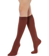 calzedonia - long socks in cotton with cashmere, 39-41, red, women