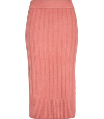 women's halogen ribbed sweater skirt, size xx-large - pink