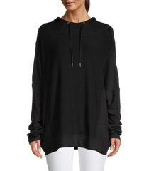 bb dakota women's hang back hoodie - black - size xs