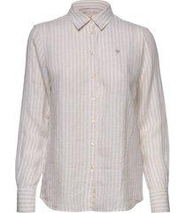 kirsten linen stripe shirt overhemd met lange mouwen beige morris lady