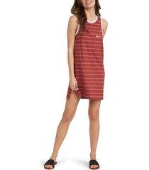 women's roxy livin' free tank dress, size x-small - red