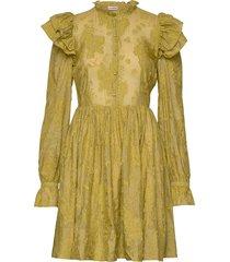 kimsa korte jurk geel custommade