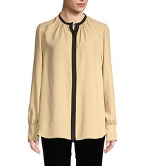 causette contrast trim blouse