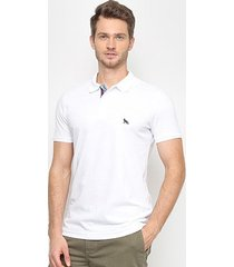 camisa polo acostamento manga curta masculina