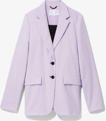 proenza schouler white label suiting blazer lilac/purple m