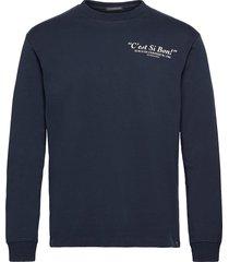 organic cotton-jersey longsleeve artwork tee t-shirts long-sleeved blå scotch & soda