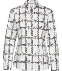 blouse long-sleeve långärmad skjorta grå gerry weber edition