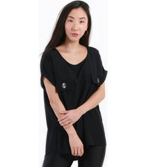 blusa manga caída negro night concept