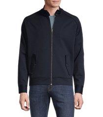 vince men's knit harrington jacket - coastal blue - size xs
