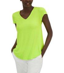 alfani v-neck knit t-shirt, created for macy's
