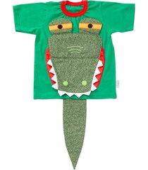 camiseta dani lessa interativa jacaré verde