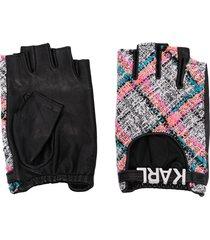 karl lagerfeld k/studio fingerless gloves - black