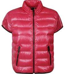 hogan short-sleeve side zip jacket