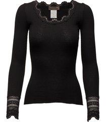 silk t-shirt regular ls w/wide lace