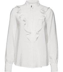 nubeach shirt långärmad skjorta vit nümph