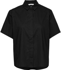 mina shirt ss 10451 overhemd met korte mouwen zwart samsøe samsøe