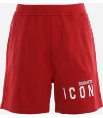 dsquared2 cotton shorts with contrasting logo