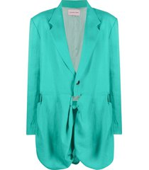 natasha zinko j bandana oversized blazer - green