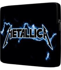 capa para notebook metallica 15 polegadas com bolso