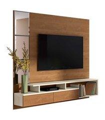 painel suspenso venice p/ tv até 58 polegadas nature/off white belaflex móveis