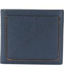 ermenegildo zegna foldover leather wallet - blue