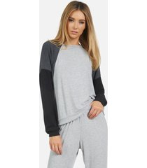 kudo le classic pullover - heather grey/heather black/black l
