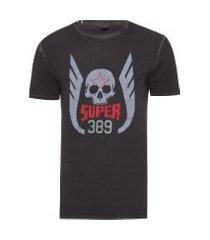 camiseta masculina super 389 - preto