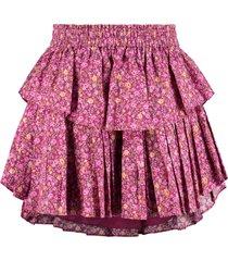 loveshackfancy floral print ruffled skirt