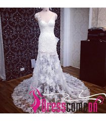 white wedding dress with applique lace wedding dress summer beach bridal dresses