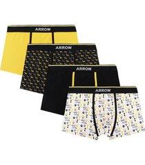 boxer 4 unidades design amarillo arrow