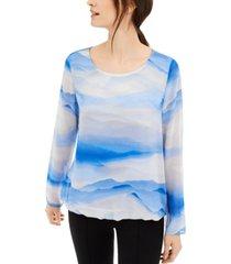 alfani printed blouse, created for macy's