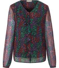 blouse zonder sluiting met lange mouwen van uta raasch multicolour