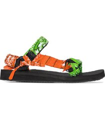 arizona love bandana knotted flat sandals - green
