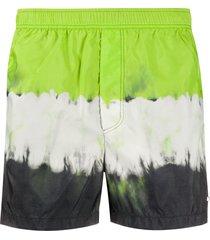 valentino tie-dye print swim shorts - green