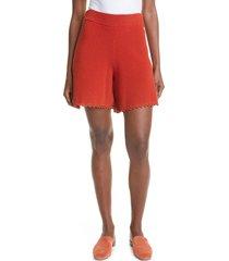 rebecca taylor crochet shorts, size large in pomodoro at nordstrom