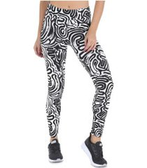 calça legging oxer mex - feminina - branco/preto
