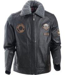 chaqueta lindelof negro bosi