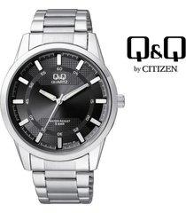 reloj para caballero elegante q&q q890j202y plateado