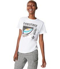 converse camiseta de manga corta galaxy 1908 white