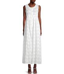 floral wide-leg cotton jumpsuit