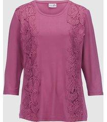topp med spets fram dress in rosa