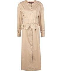 leah buttonfront dress