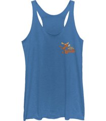 fifth sun rocky and bullwinkle moose is on the loose tri-blend racer back tank