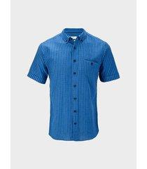 camisa manga corta en mezcla lino-algodón para hombre 06188