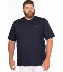 camiseta longford gola careca plus size - azul marinho - masculino - dafiti