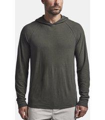 cotton linen jersey raglan hoodie